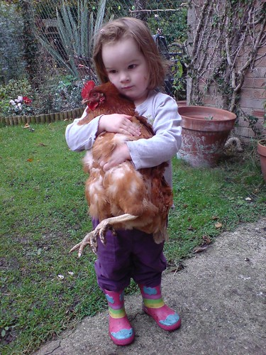 Ffion and chicken