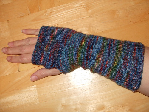 Blue Cashmere Mitts