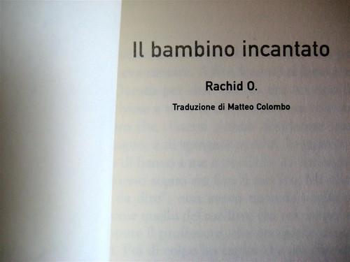 Rachid O., Il bambino incantato; Tradotto da Matteo Colombo, Playground 2006, frontespizio (part.)