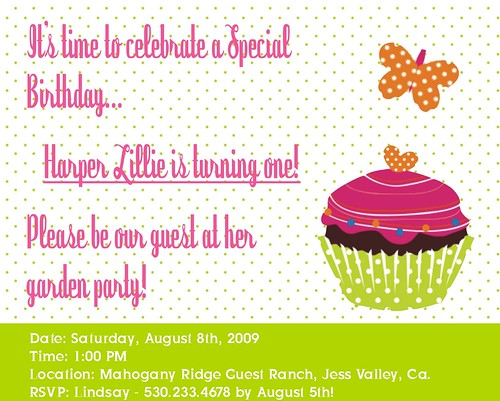 Harper's Party Invitation
