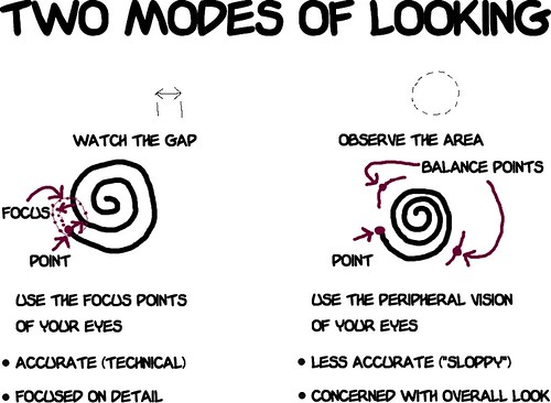Two modes of looking