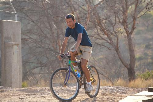 Haciendo el indio con la bici (I)