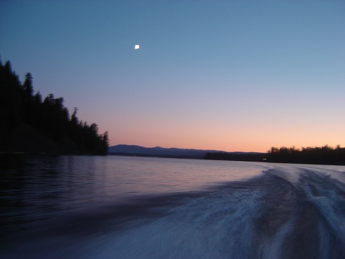 By night: we took moonlit boat rides!