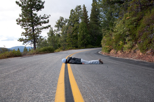 Me in the road