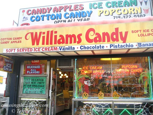 Williams Candy in Coney Island. Photo © Tricia Vita/me-myself-i via flickr