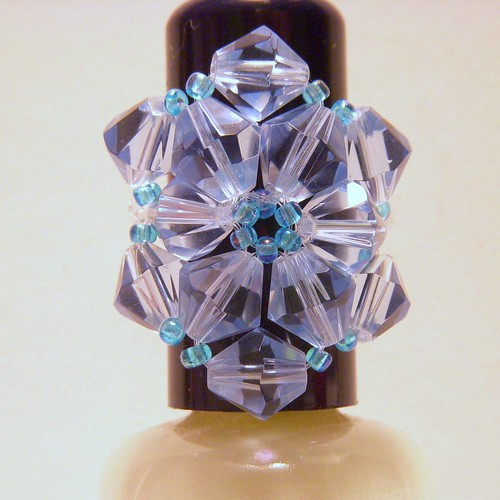 crystal flower ring by you.