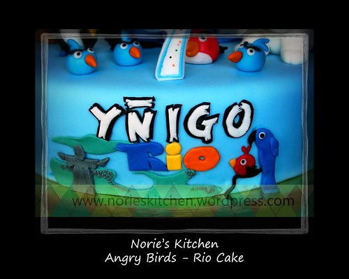 Norie's Kitchen - Angry Birds Cake  - Rio - Front
