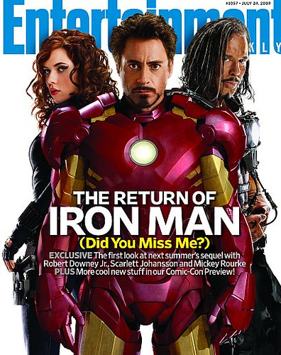 iron man 2 entertainment weekly portada por ti.