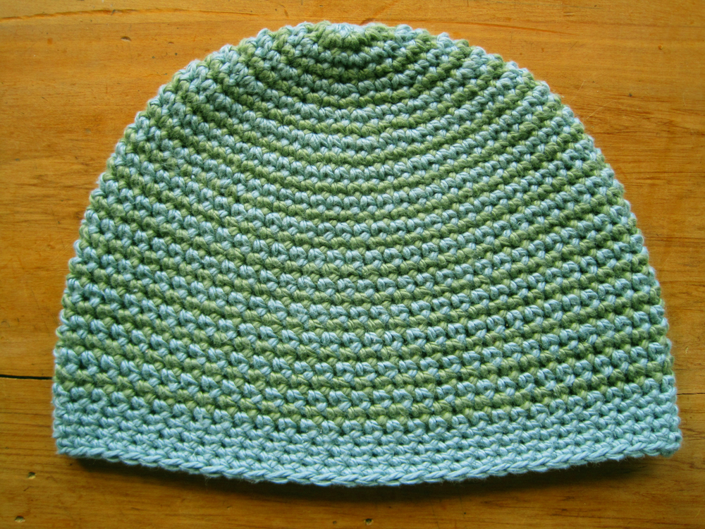 Two colour spiral hat2