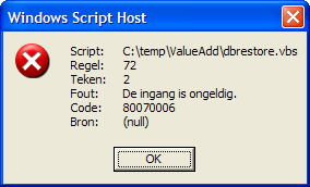 Circumventing error 80070006 when running VBS (in this case
