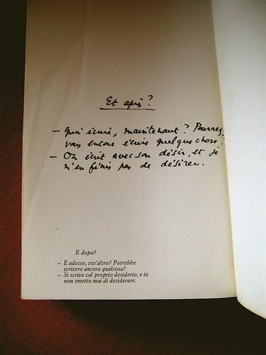 Barthes di Roland Barthes, Einaudi 1980, p. [224] (part.)