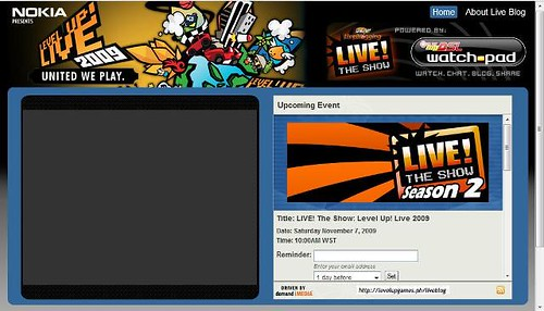 Level Up! Live 2009 Live Blog and Live Video Stream