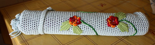 Finished Irish Crochet Yoga Mat Bag