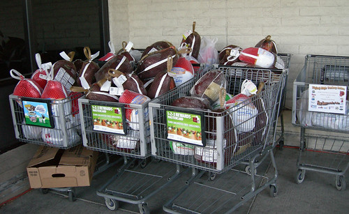 Some of the turkeys donated