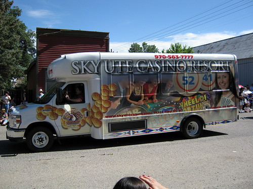 The Sky Ute Casino just sent their shuttle bus