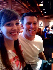 Momo & Jeremy at Carrabbas for Papa's 60th bday dinner!