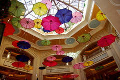 Umbrellas in the Palazzo in Las Vegas