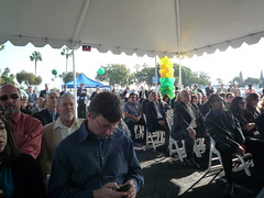 Crowd at the LGB Parking Structure Groundbreaking
