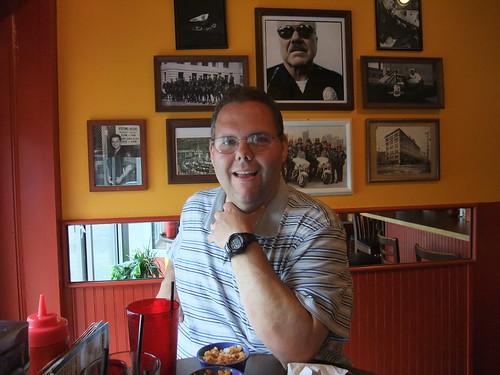 Paul at Dirty Frank's Hot Dog Palace