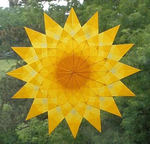 Gold Sunburst Window Star