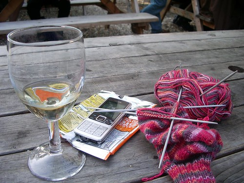 Still life with knitting