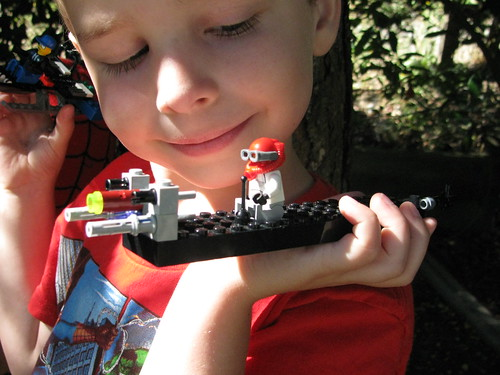 Auden and two recent LEGO ships