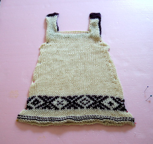 Topaz dress blocking