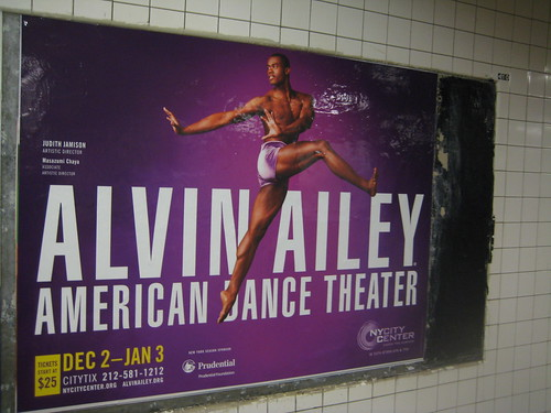 Alvin Ailey Subway Ad