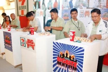 7-Eleven Big Bite Match Hotdog Eating Contest