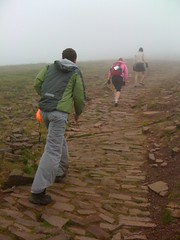 The IAB team trecking uphill at the CARE Challenge
