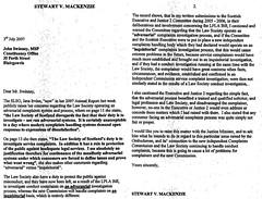 S.MacKenzie to J Swinney 3 July 07