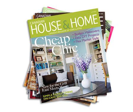 Canadian House & Home June 2009 cover