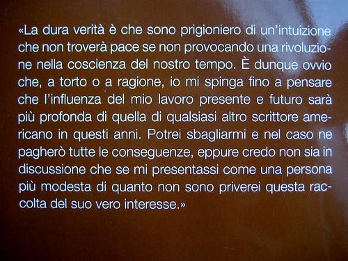 Norman Mailer, Pubblicità per me stesso, ©Baldini Castoldi Dalai 2009, Art Director Sara Scanavino, quarta di copertina (part.)