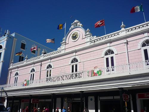 Pink building, Barbados