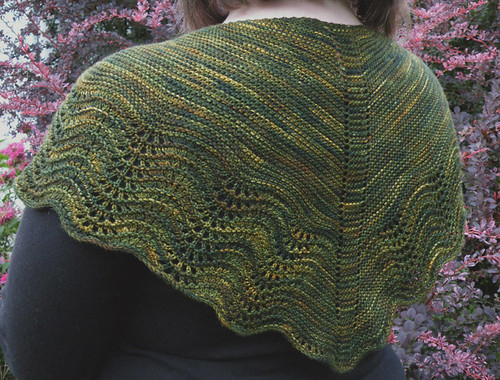 Gorgeous sock yarns can make such gorgeous shawls!  ;)