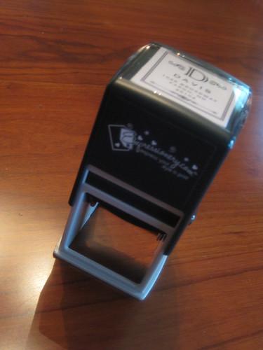 my custom stamp