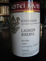 1999 Abtei Muri Südtiroler Lagrein Riserva by Rachel Black