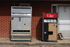 Old Coke machines at the Pioneer Motel in Springfield, Illinois