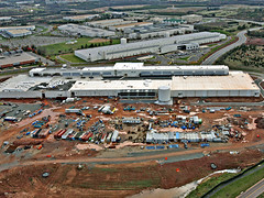 Taken from the DuPont Fabros website, a photograph of the company's ACC5 facility, currently under construction in Ashburn, Virginia.
