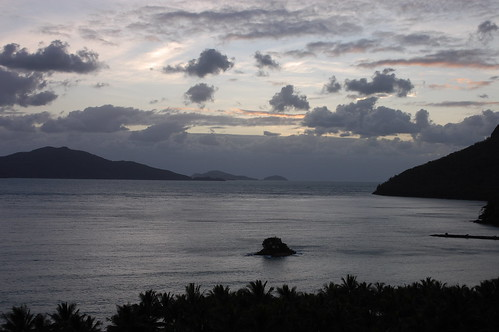 Looking out into the bay on Hamilton Island, Queensland, Australia