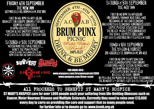 Birmingham Punks Picnic 2009 reverse