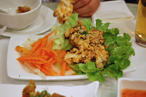 Grilled Squid with Tofu Sauce