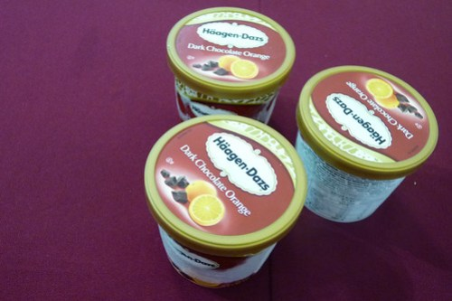 Haagen Dazs Dark Chocolate Orange flavor