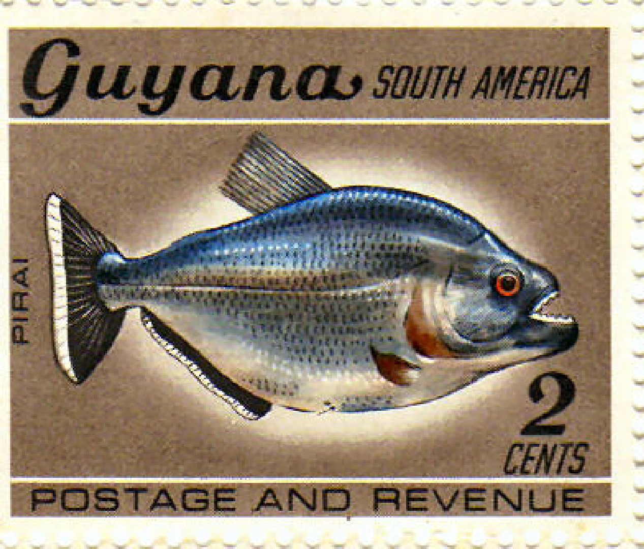Pirai Stamp, Guyana
