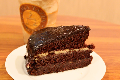 Chocolate Moist Cake at La Mia Tazza Coffee