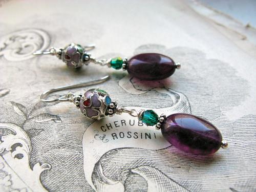 Winter orchard earrings