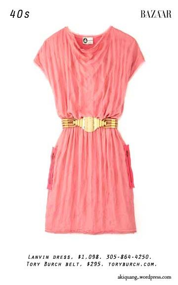 Lanvin dress, $1,098. 305-864-4250. Tory Burch belt, $295. toryburch.com.