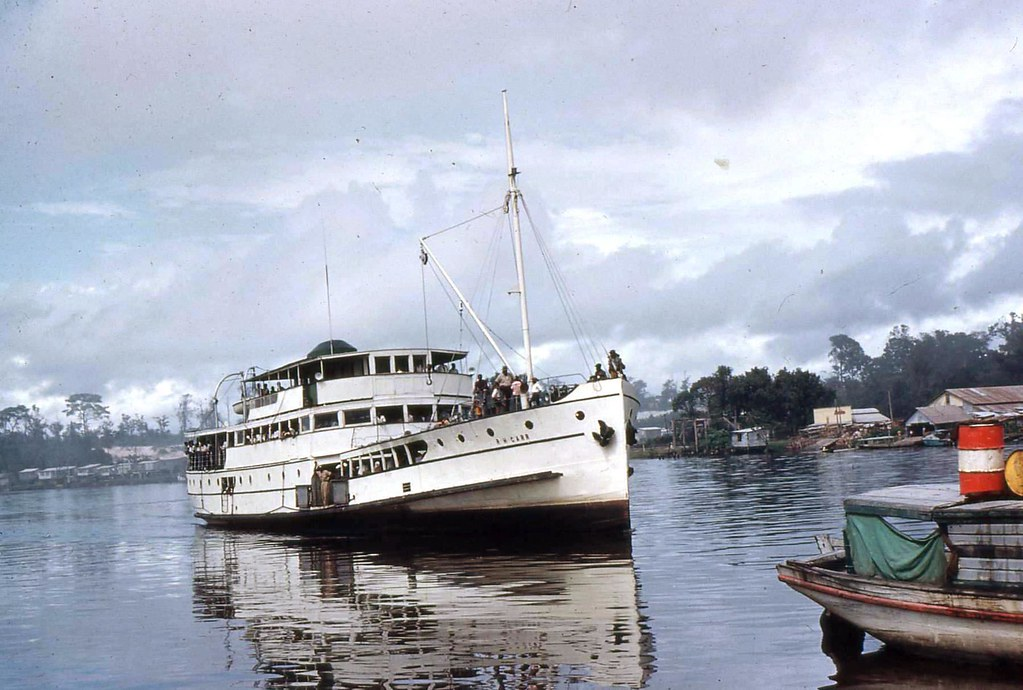 R.H. Carr, on the Demerra River, British Guiana (photo P Llyn-Jones)