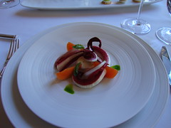 Gift from the Chef:  Radicchio Tardivo with Buffalo Mozzarella, Basil and Persimmon