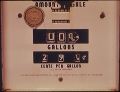 Sign of the Past Is This Abandoned Gasoline Pump with a Price of 29.9 Cents Per Gallon. The Cost of Fuel Has Made Such a Reoccurrence Nothing But a Dream. The Gas Pump Was Photographed at 04/1974